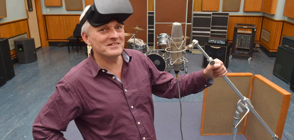 Prof Holger Regenbrecht is working on a project to create a virtual copy of the soon-to-be-demolished recording studio in Albany St. Photo: Gregor Richardson
