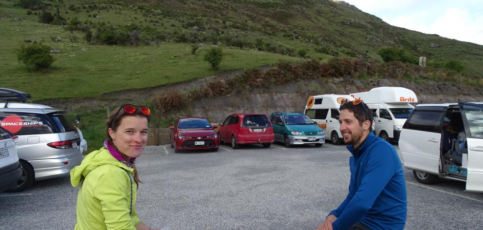 Melanie Blairvacq and Florian Maimi, both of France, hoped to avoid crowds by starting the Roys Peak ascent at 3am. Photos: Kerrie Waterworth