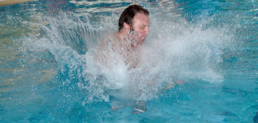 Daniel takes the plunge. PHOTOS: GERARD O'BRIEN