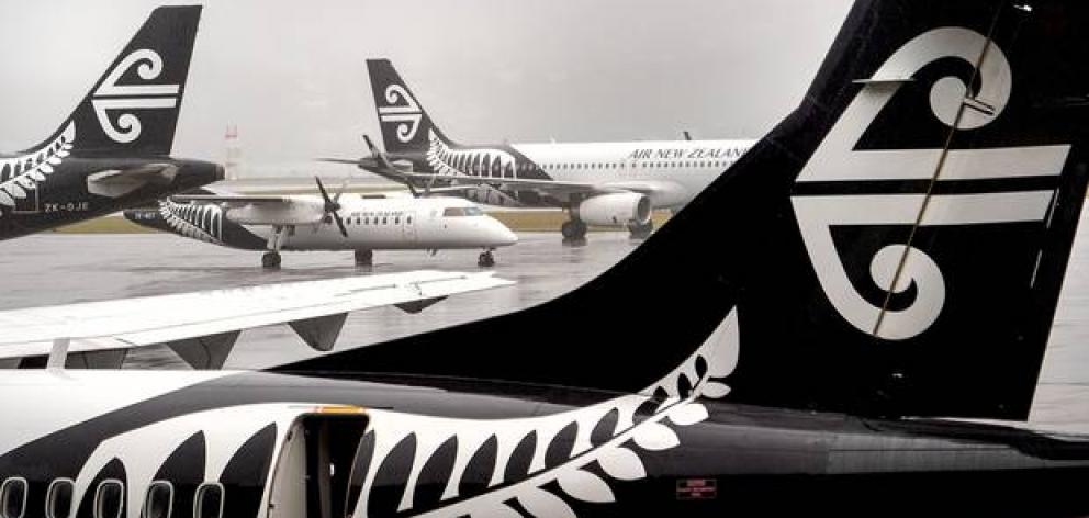 Air New Zealand has cancelled it's Tuesday morning flights. Photo: NZ Herald/File