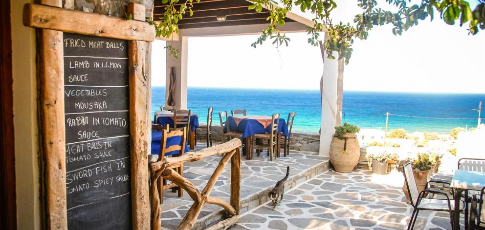 A meal at a traditional taverna.