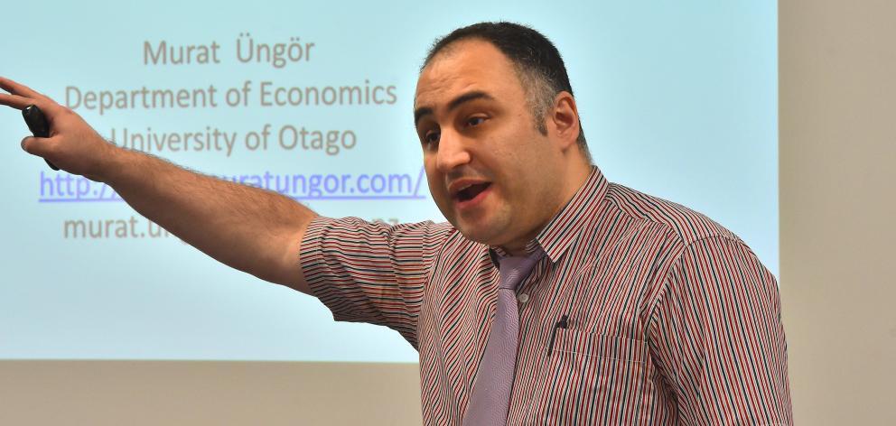 Murat Ungor at the University of Otago campus yesterday. Photo: Gregor Richardson