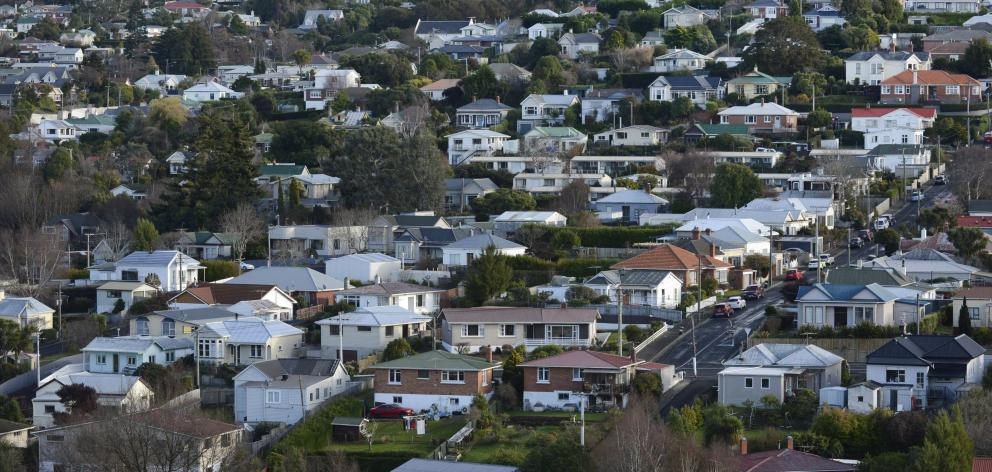 House prices across Otago rose 14.4% in the past 12 months. PHOTO: GERARD O'BRIEN