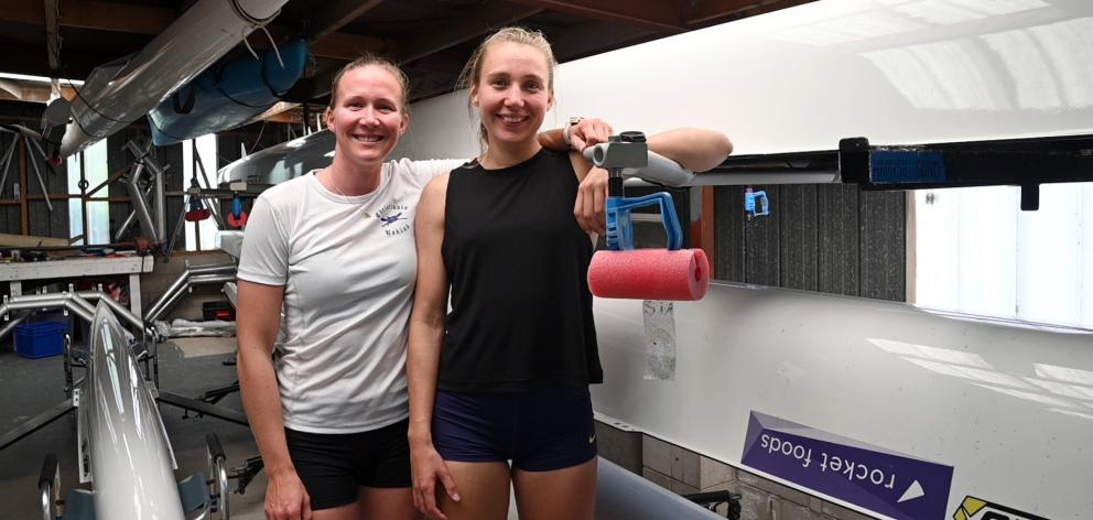 Norwegian women's rowing pair Siri Kristiansen and Hanna Inntjore in the North End Rowing Club...