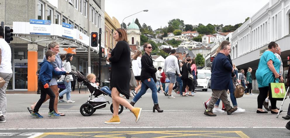 Dunedin's George St was packed with bargain hunters making the most of the Black Friday sales....