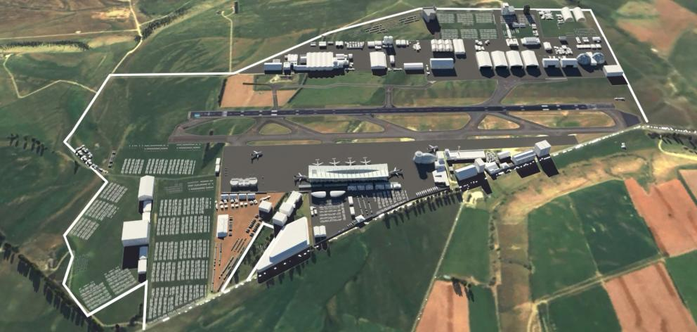 A still from a video showing what an expanded Wanaka Airport could look like. PHOTO: ANIMATION...