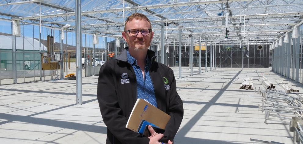 Otago Polytechnic Central Campus manager Kelly Gay is looking forward to the completion of the glasshouse on its Bannockburn campus. Photo: Yvonne O'Hara