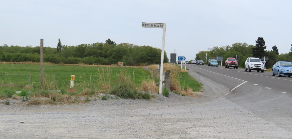 The proposed site of a heavy vehicle weigh station at the northern end of the State Highway 1...