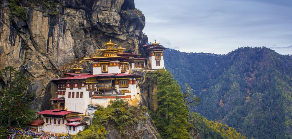 Perched 610m up on the cliffs north of Paro town, Taktsang Monastery is referred to as the Tiger...