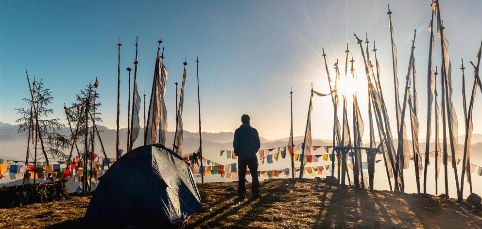 Watching the sunrise at 4000m in the Chele la pass, Bhutan. PHOTOS: GETTY IMAGES