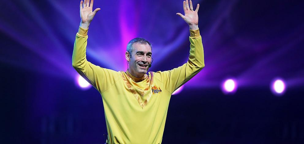 Greg Page of The Wiggles performs on stage during The Wiggles Celebration Tour at Sydney Entertainment Centre on December 23, 2012. Photo: Getty