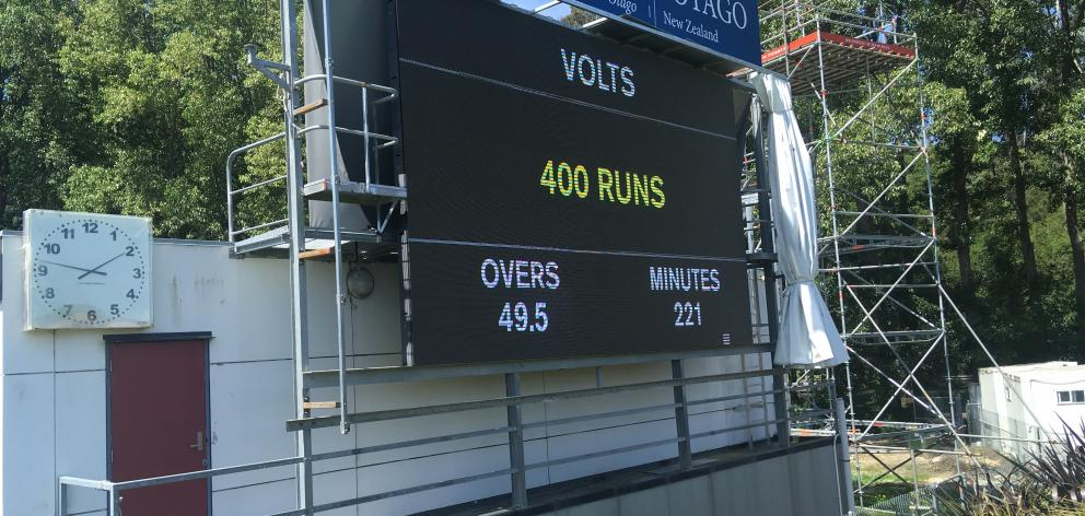 Otago ran up a record score against Central Districts. Photo: Steve Hepburn