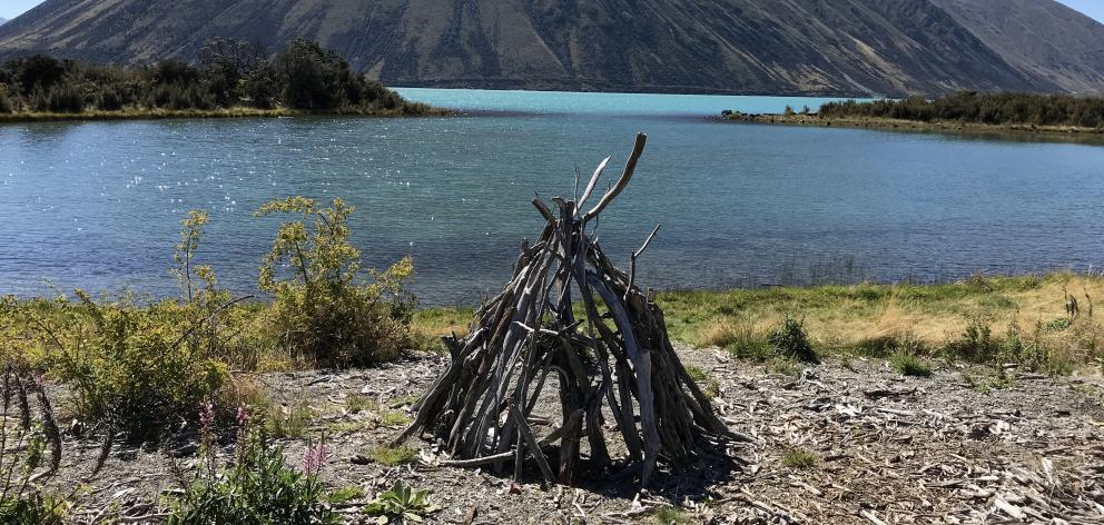 A lake-side teepee provided the perfect spot for a break.