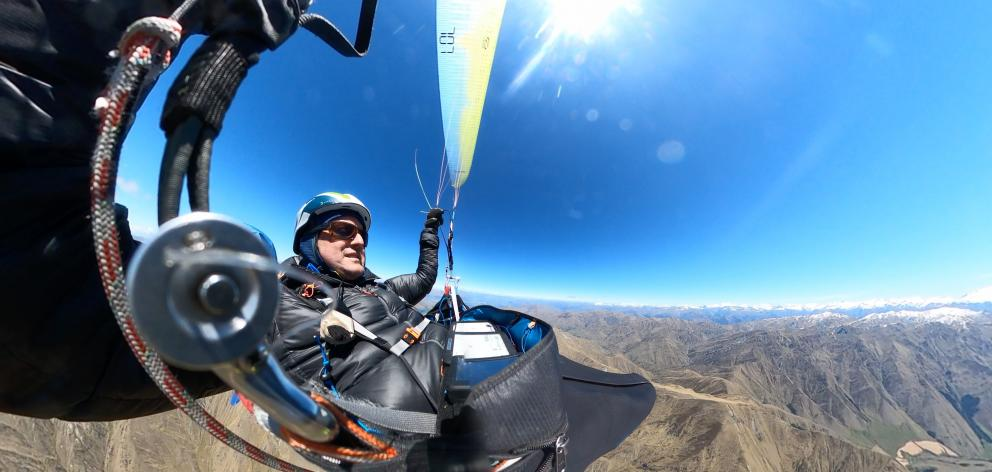 Louis Tapper during his record-setting flight on December 23. Photo: Louise Tapper