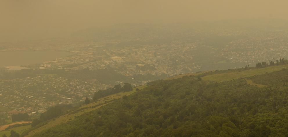 Dunedin from Mt Cargill this morning. Photo: Gerard O'Brien