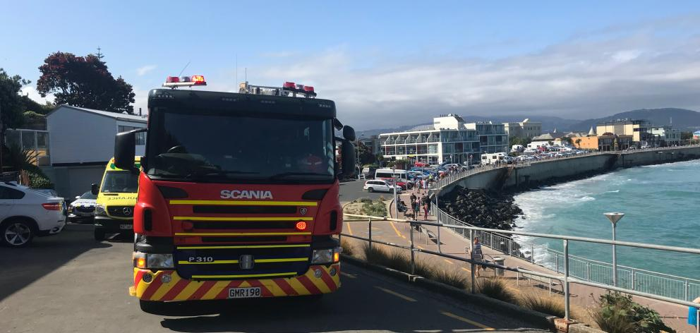 Emergency services were called to the scene about 4.30pm. Photo: Daisy Hudson
