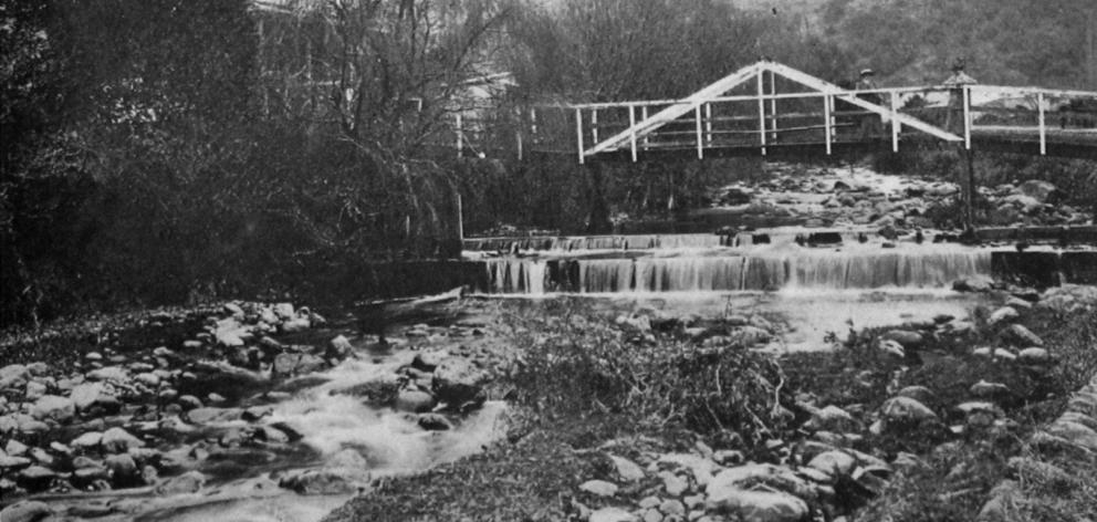 The upper reaches of the Water of Leith, Dunedin. — Otago Witness, 20.1.1920.