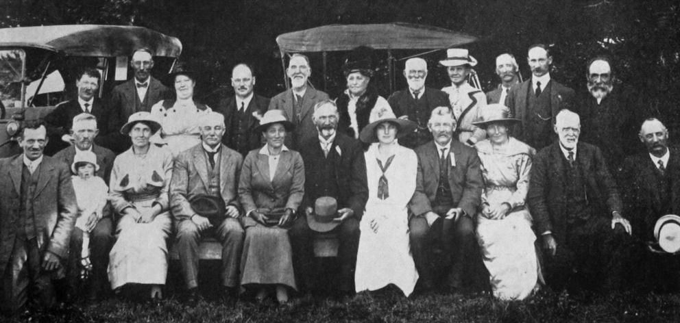 Some of the Waitahuna A. and P. Society's officials, with Sir James and Miss Allen. — Otago...