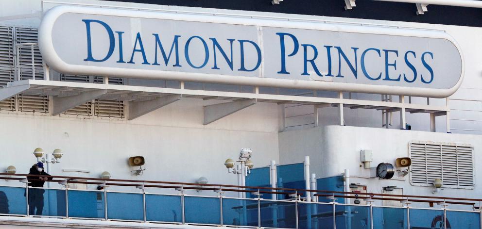 The Diamond Princess has been docked outside Yokohama under quarantine since February 4. Photo:...