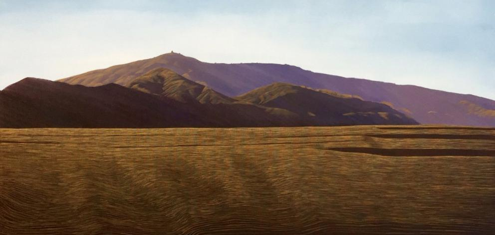 Afternoon Shadows, Dunstan Range (detail), by Richard Parsons