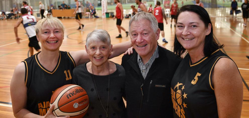 The Garland family (from left) Vicki Thomson, Rae and Russell Garland and Tracey Kelly back...