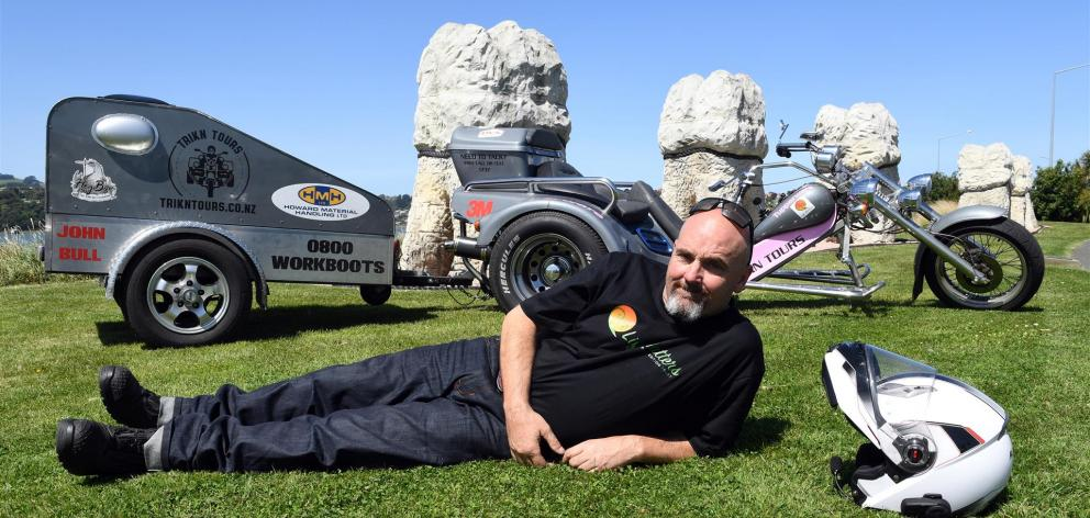 Brett Lindsay has been raising money for suicide prevention during his travels from Wellington to...