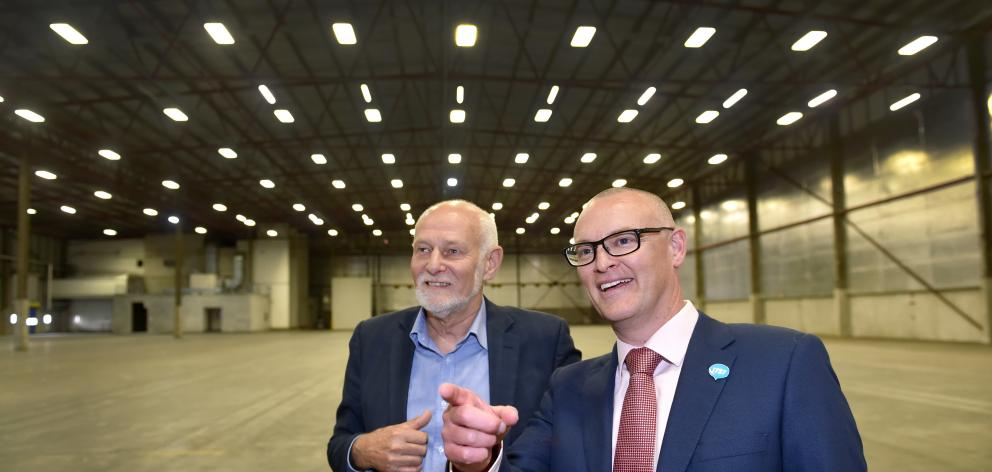 Health Minister David Clark points out where the new Dunedin Hospital day surgery building will...
