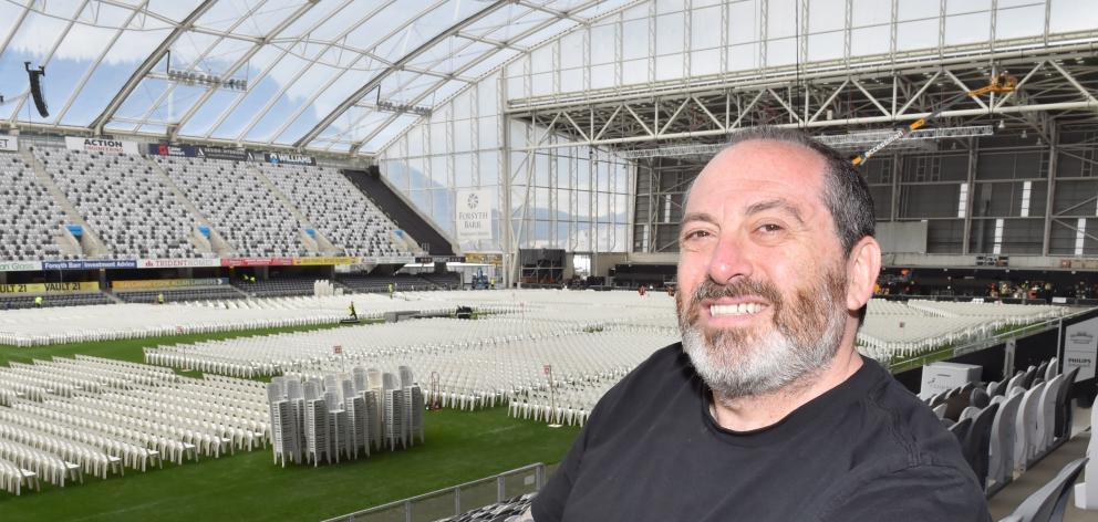 After managing Elton John's concert tours for the past 20 years, tour manager DC Parmet continues to make sure everything is in order for every show — including the one tonight at Forsyth Barr Stadium. Photo: Gregor Richardson