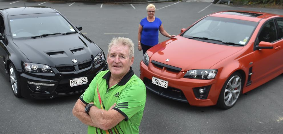 Bob and Anne Allinson will hold on to their 2011 HSV Maloo ute and 2007 HSV GTS Commodore because their value is now expected to increase. Photo: Peter McIntosh