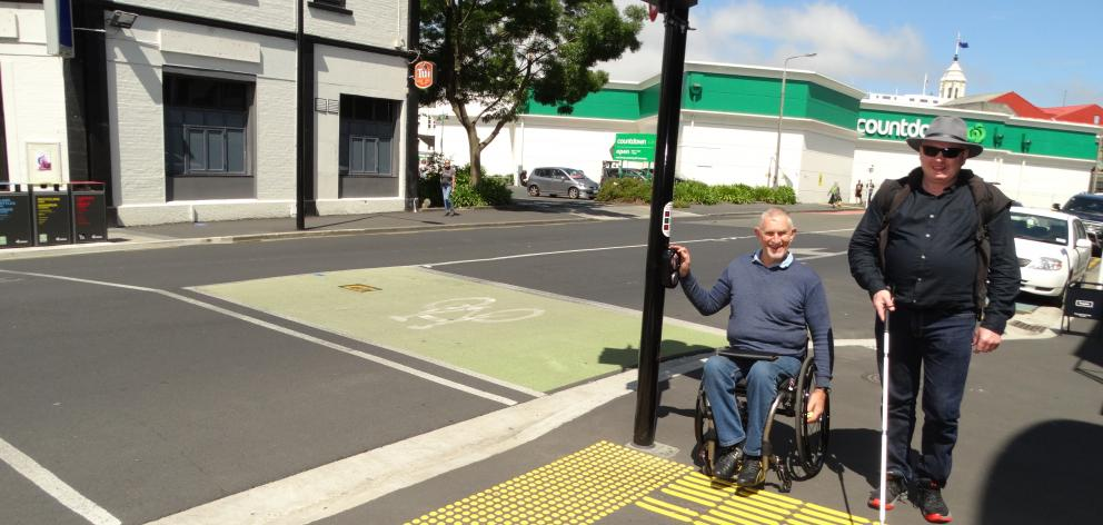 Dunedin disability advocates John Marrable (left) and Simon Fogarty, are keen to highlight...