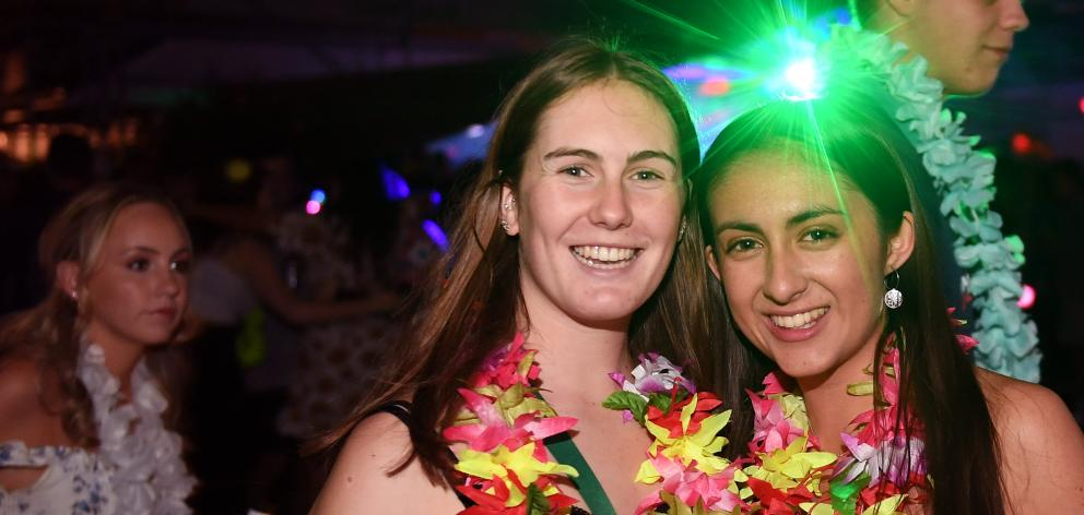 Partiers donned their Hawaiian best at a Leith St party on Wednesday night.
