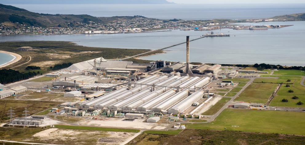The aluminium smelter at Tiwai Point, Bluff. Photo: Supplied