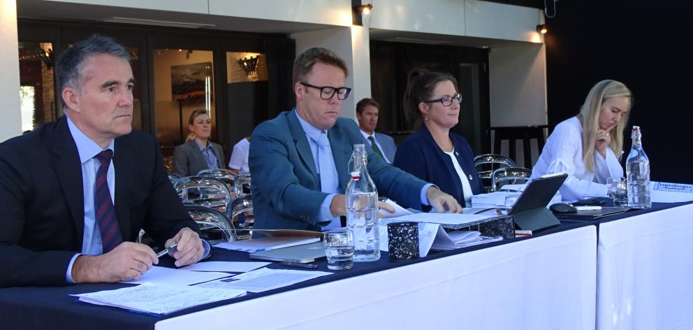 Presenting evidence on behalf of Universal Developments Hawea on the second day of the hearing...
