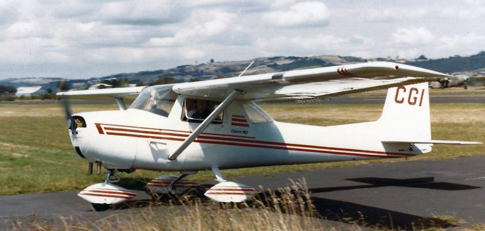 The Cessna 150 ZK-CGI, once ditched in Lake Duncan and later restored to airworthiness, prepares...