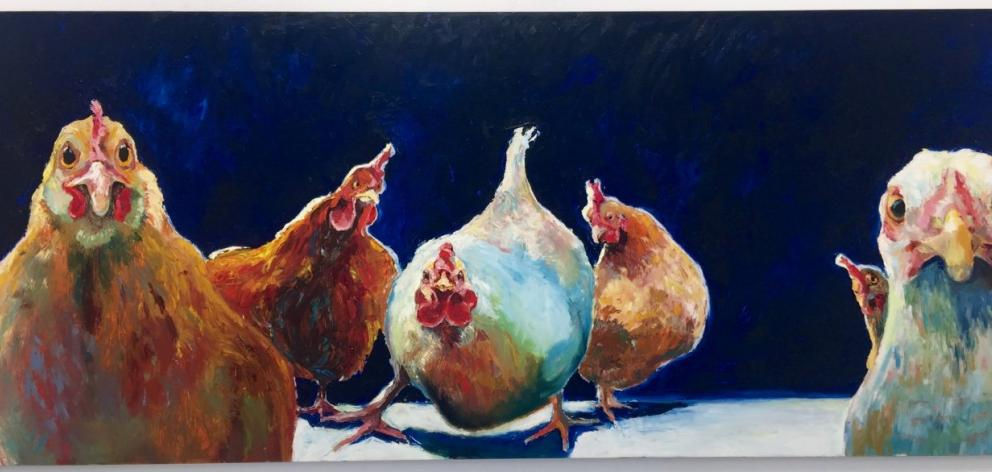 Hen Party (detail), by Lizzie Carruthers