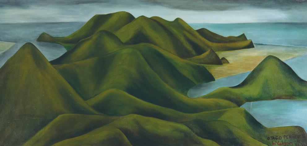 Colin McCahon's Otago Peninsula 1946-1949. Photo: Collection of Dunedin Public Libraries, Rodney Kennedy Bequest. Courtesy of the Colin McMahon Research and Publication Trust.