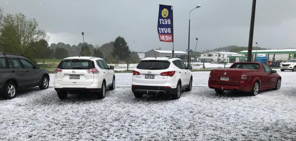 Cars parked at Pykes Auto, in Timaru. PHOTO: SUPPLIED