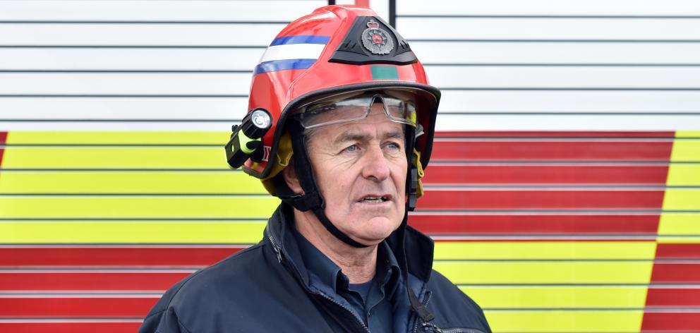 Fire and Emergency NZ Senior Station Officer Mark Leonard at Dunedin City Fire Station, where...