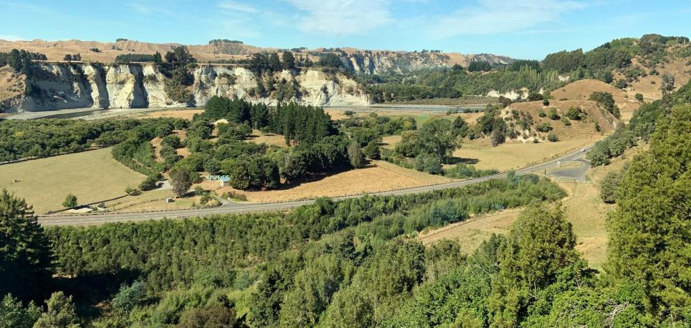 Rangitikei country . . . River-eroded and rugged.