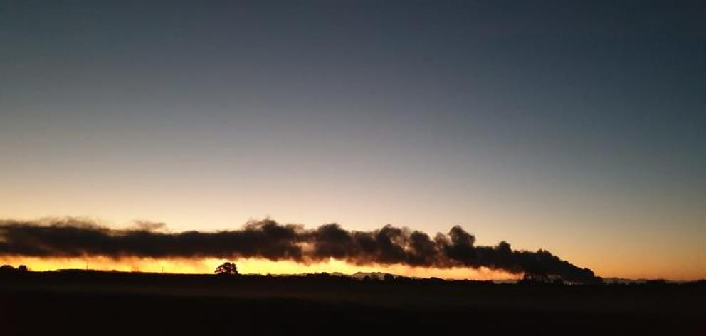 People have been sharing images of the blaze on social media. Photo: Facebook / Ella McGready