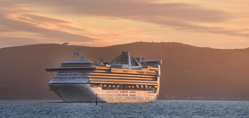 The Golden Princess visited Dunedin in March. Photo: ODT files