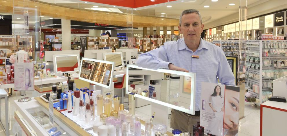 H&J Smith chief executive John Green in the Dunedin store in the Meridian Mall last week. PHOTO:...