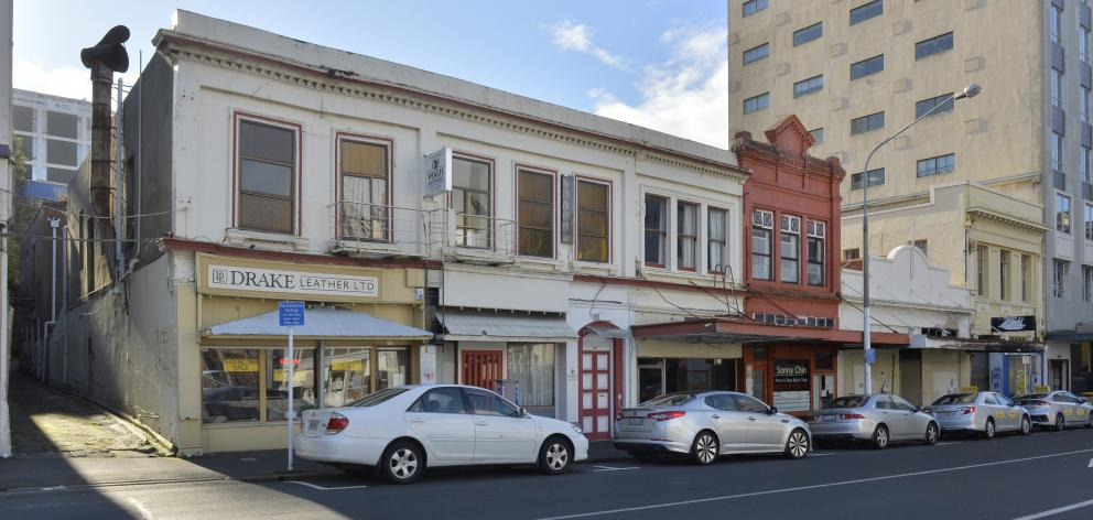 The Rattray St buildings, formerly owned by Dunedin's Chin family, have been sold. PHOTOS: GERARD...
