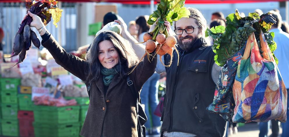 Susie Hatherly and her son, Henry Hatherly, of Dunedin, enjoy being able to shop locally for...