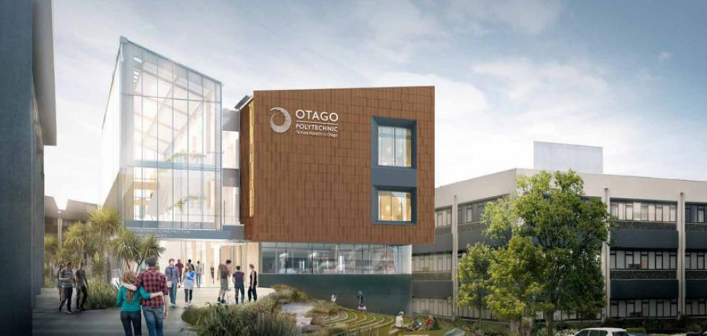 An artist's impression of the Otago Polytechnic's proposed Engineering, Building and Construction...