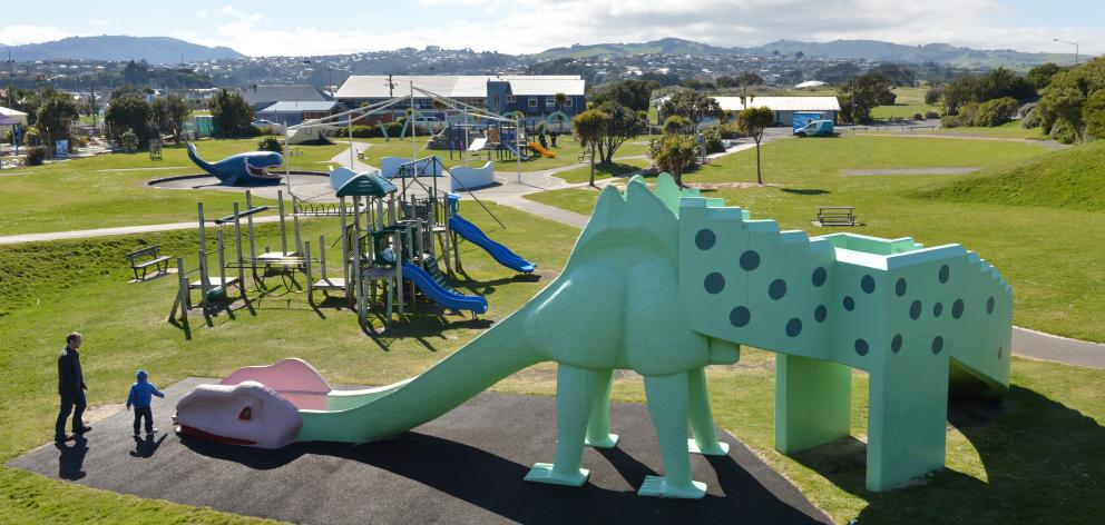Dunedin's Marlow Park, better known as the ''dinosaur park'', can provide hours of fun. PHOTO:...