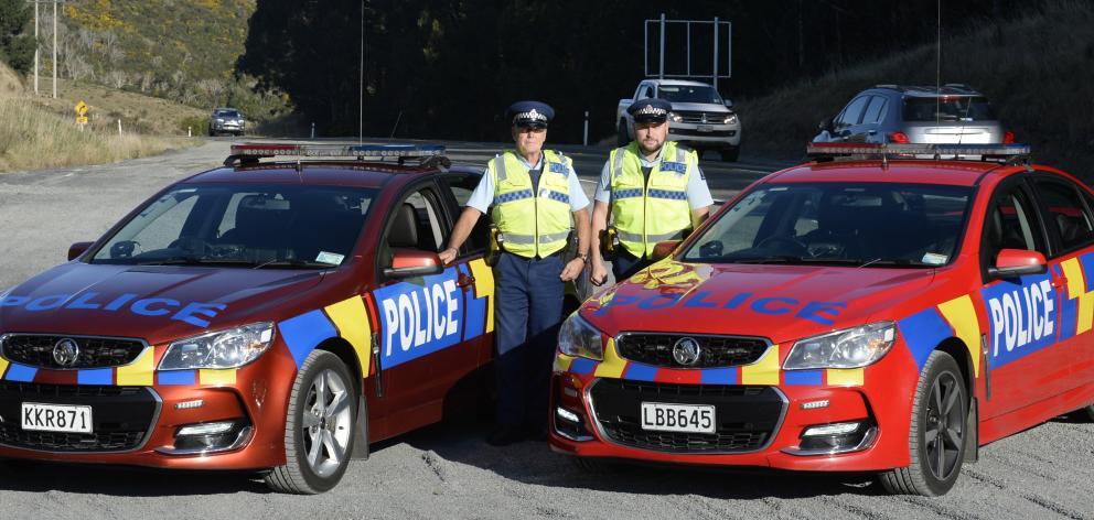 Senior Constable Marty Van Elst (left) and Acting Sergeant Richard Kupenga, of Dunedin, are...