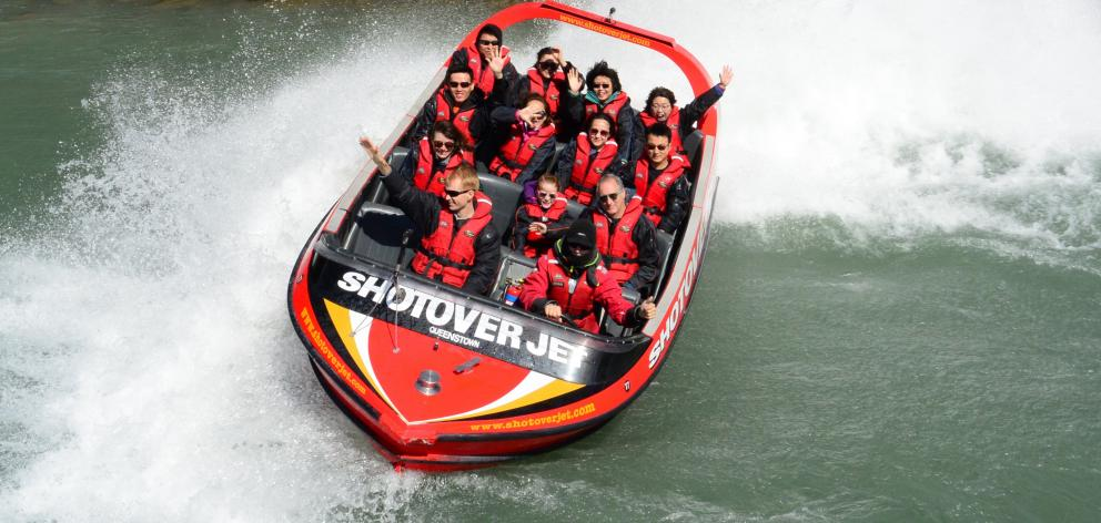 Shotover Jet in happier days before it was mothballed. PHOTO: ODT FILES