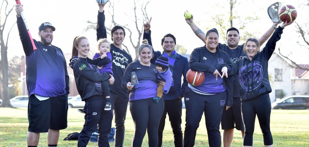 Members of the South Pacific Rugby League and Sports club (from left): David Reedy, Kylie Maihi,...