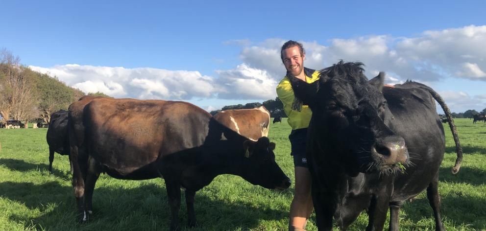 Jakeb Lawson enjoys working as a farm assistant on a Woodlands dairy farm and is  progressing to...